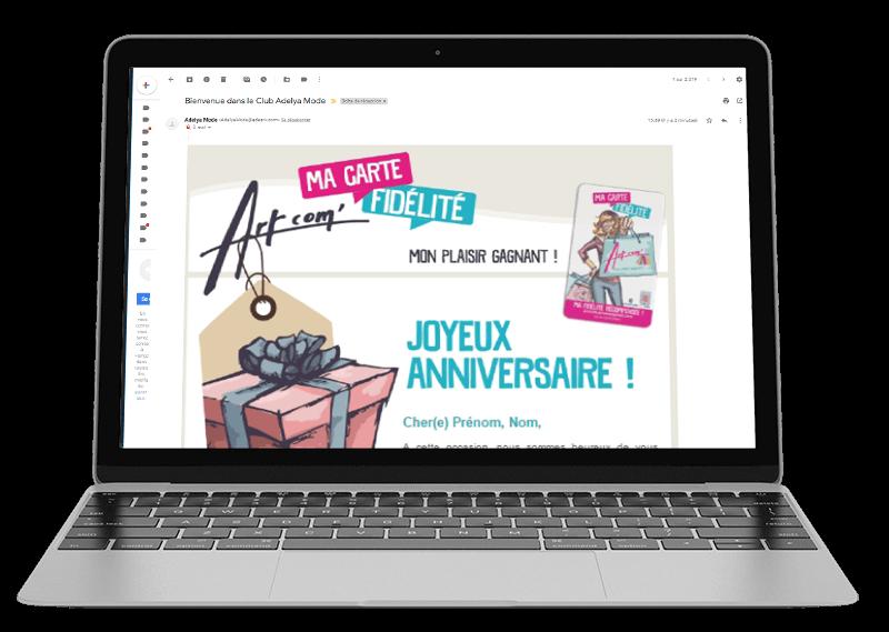 Réception d'une newsletter par E-mail