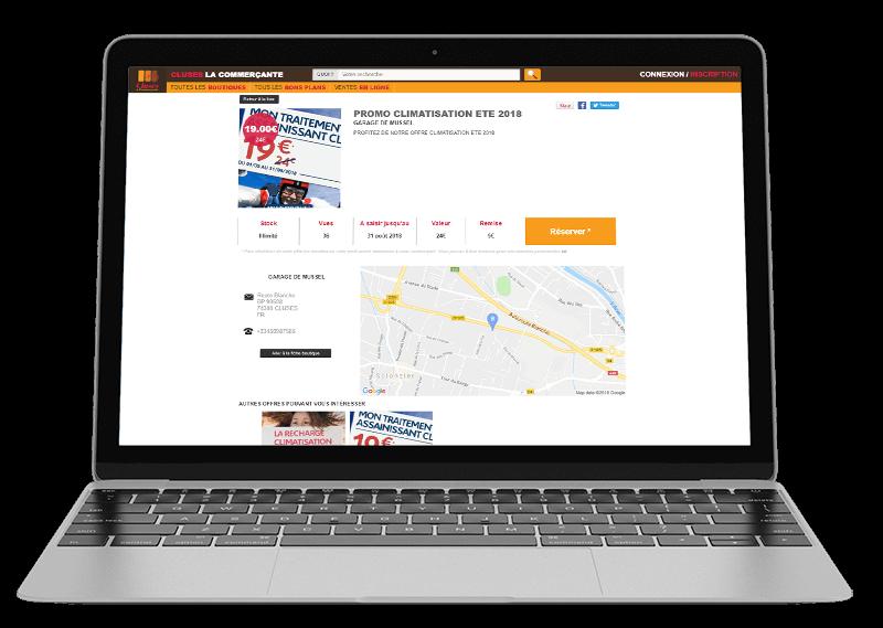 bon plan publié sur le moduble web d'une ville