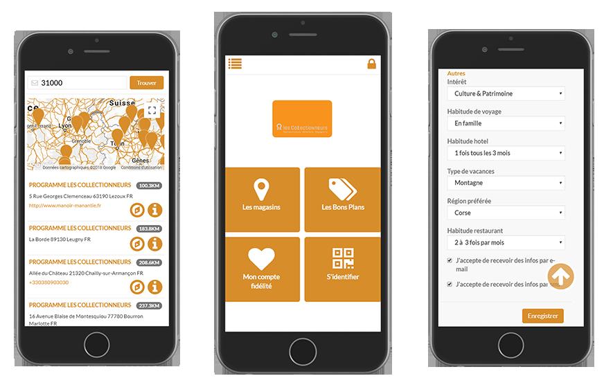Application mobile de la chaîne Châteaux Hôtels Collection