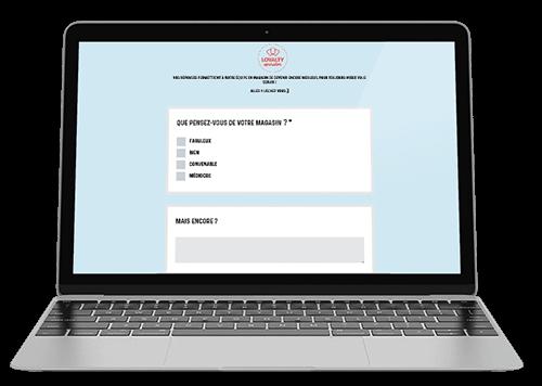Questionnaire de satisfaction reçu par le client