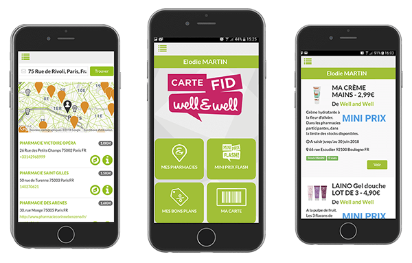 Application mobile pour la pharmacie Well and Well