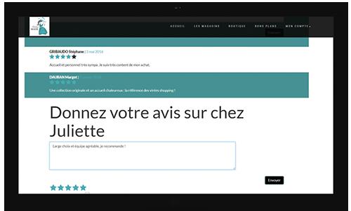 Modules web to store avis client