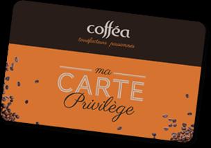 Carte de fidélité de coffea