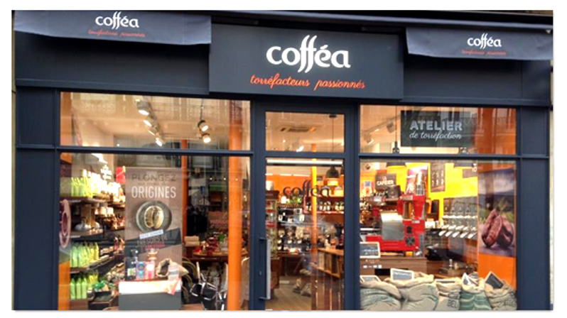 Devanture Magasin Coffea