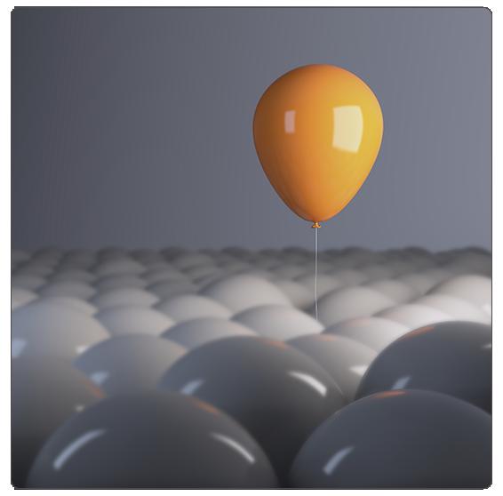Un ballon orange sort du lot