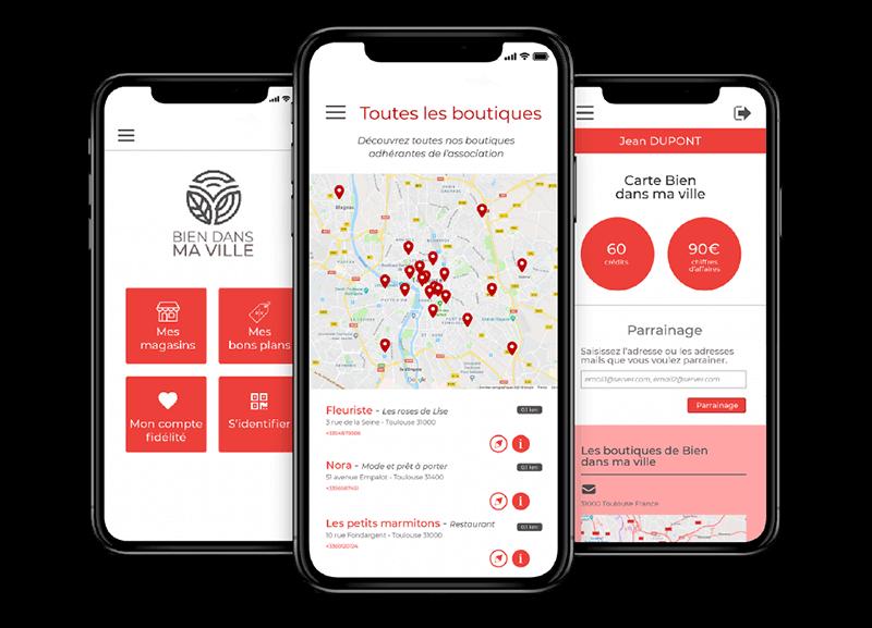 Une application mobile dédiée au programme de fidélité collectif