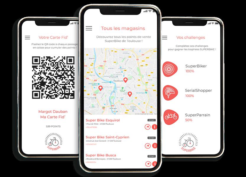 Application mobile d'une enseigne pour ses clients