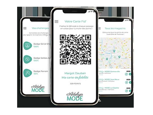 Application mobile dédié au programme de fidélité