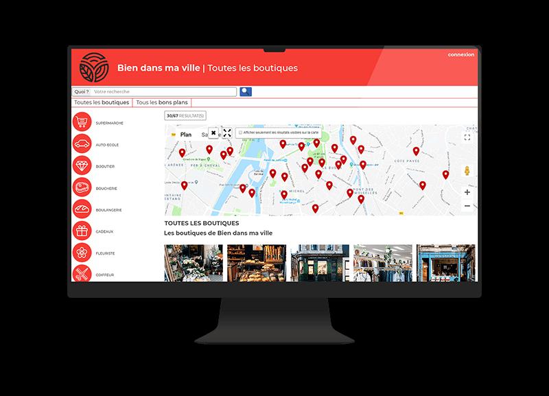 Store Locator avec géolocalisation des commerces d'une union commerciale