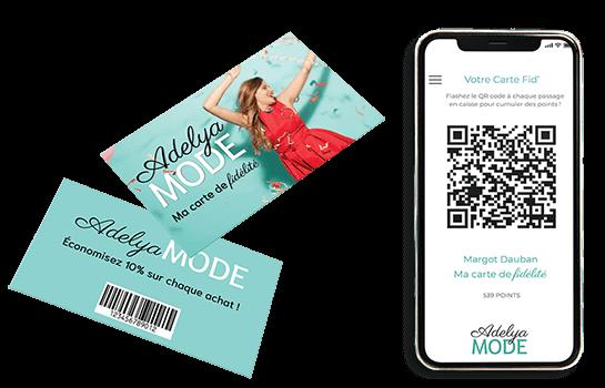 Une carte de fidélité physique NFC ou dématérialisée sur mobile