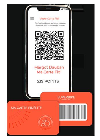 Carte de fidélité physique NFC ou dématérialisé QR code