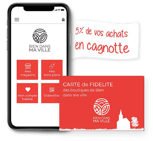 Une carte de fidélité disponible en papier ou sur l'application mobile
